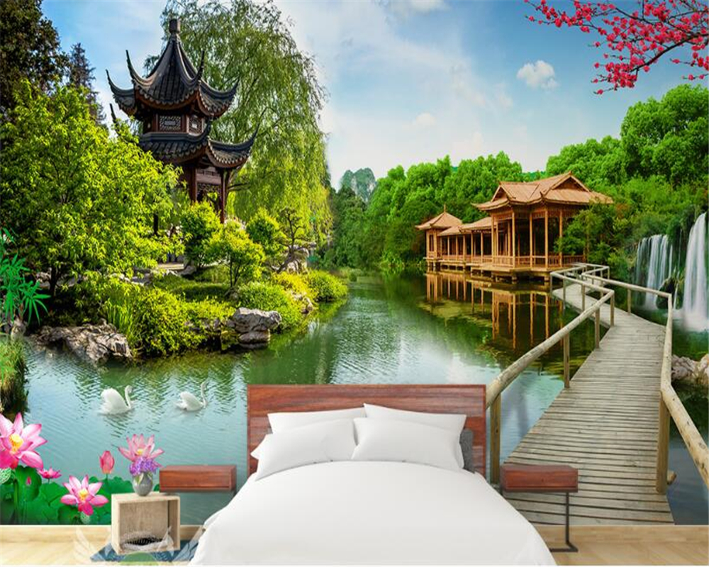 Home Improvement Sensible Beibehang Large Custom Wallpapers Super Beautiful Dream Arch Fairy Tale Forest Tv Sofa Background Wall Decorations Painting Supplies & Wall Treatments