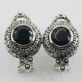 Черный Оникс Стерлингового Серебра 925 Серьги TE511