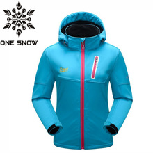ONE SNOW Softshell font b Jacket b font Women Brand Windstopper Waterproof font b Jacket b