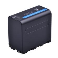 Batteria della macchina fotografica di NP F970 di 1Pcs 7.2V 7200mAh NP F960 con lindicatore di potere del LED per la Batteria NP F960 della Batteria di NP F960 di Sony NP F970