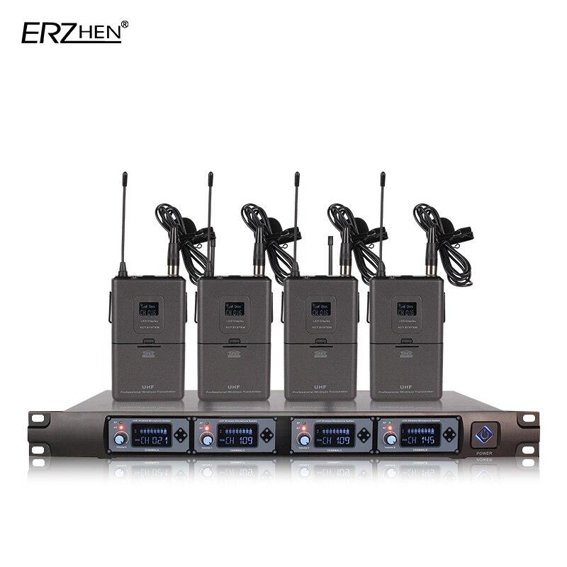Bežični mikrofon 4 Prijemnici 4 Slušalice Profesionalni mikrofon - Prijenosni audio i video - Foto 2