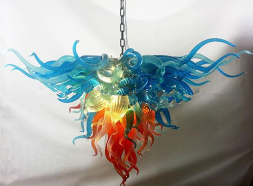 Modern Rainbow Hand Blown Glass Chandelier with LED Bulbs in Chandeliers from Lights Lighting