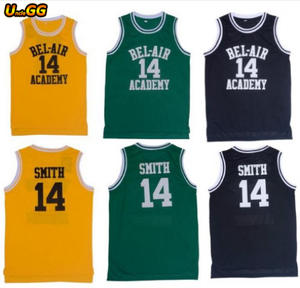 Uncle GG Basketball Jersey Fresh Prince Of Bel Air Academy Movie  14 Will  Smith b33ca5d3e