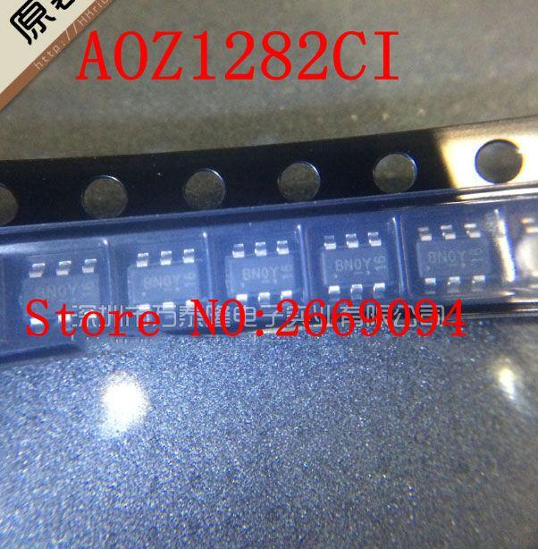 20 pcs/50 pcs/100 pcs Frete grátis AOZ1282CI AOZ1282 step-down DC-DC chip SOT23-6 pacote novo original