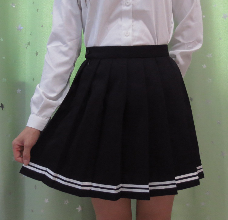 Japanese High School Student Girl Cute Kawaii Classical Pleated Skirt Macaron Color Cosplay High Waist School
