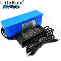 LiitoKala 36V 10Ah Battery 18650 Rechargeable Battery 42V 10000mAh 10S3P Lithium Ion Battery BMS 350W li ion Electric Bicycle