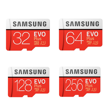بطاقة ذاكرة EVO Plus من سامسونج بسعة 8 جيجابايت / 32 جيجابايت / SDHC 64 جيجابايت / 128 جيجابايت / 256 جيجابايت / بطاقة SDXC مايكرو إس دي TF Class10 بطاقات Microsd C10 UHS-1 الأصلية 100٪ 1