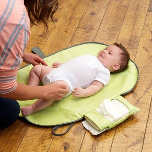 Baby Changing Pad Folding Diaper Changing Pad Waterproof Mat Cover Bag Kit Travel Storage