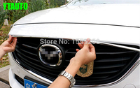 Car Front Grille Trim Auto Grille Decoration Cover For Mazda 6 2014 2015 ABS Chrome