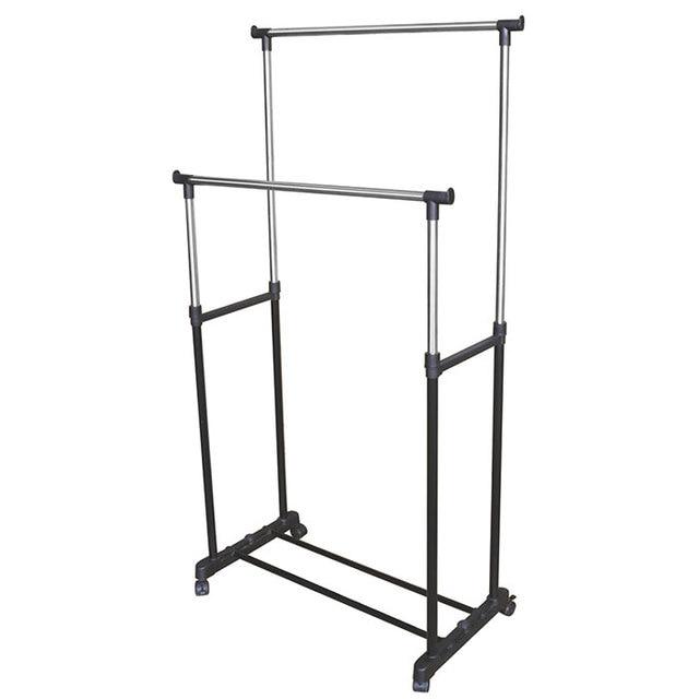 Perchero de acero inoxidable Simple Perchero de almacenamiento multifuncional para el hogar muebles de interior y exterior