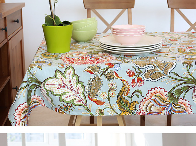 Multi Size Chinese Style Cotton Table Cloth PAS Tablecloths Table Cover  Decoration Customized Coffee Table