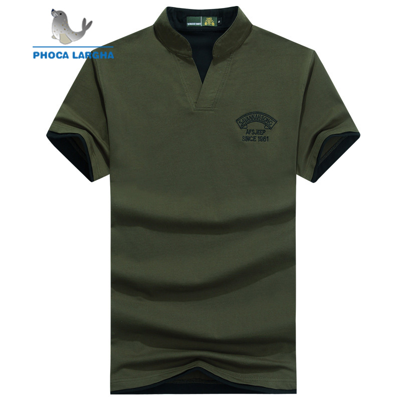Men's Summer   Polo   Shirt Causal Embroidery Short Sleeve   Polo   Male Solid Color Slim Fit Cotton   Polo   Shirts For Man classical style