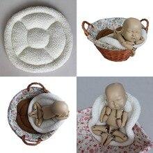 Детские реквизит для фотосессии новорожденных одеяло ведро Корзина писака наполнитель ребенок позирует Cusion творческая фотостудия реквизит