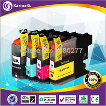 4XCompatible Ink Cartridges For Brother Ink LC121 B-121 Cartridge Set DCP-J552DW J752DW MFC-J470DW J650DW Inkjet Printer for EU(China (Mainland))