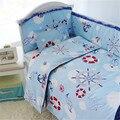 Venta caliente 5 unids Cuna Parachoques Conjuntos, Ocen Estilo Infantil Cuna Juego de Cama para Niños, Revestimientos de Cama de Bebé recién nacido Colchón