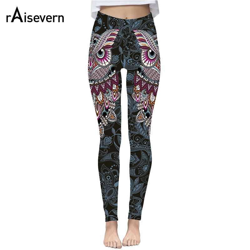 06632be0edf899 Raisevern Cute Owl Print 3D Leggings Women Fashion Streetwear Pants Fitness  Clothing Strechy Trousers Clearance Sale