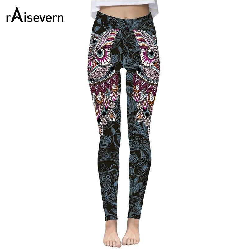 Raisevern Cute Owl Print 3D   Leggings   Women Fashion Streetwear Pants Fitness Clothing Strechy Trousers Clearance Sale