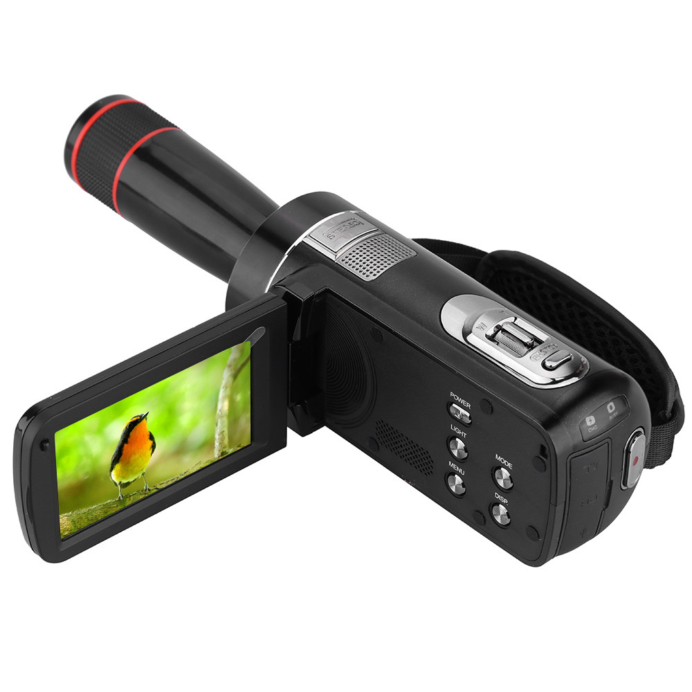DHL Free Ship ORDRO HDV-Z8 Telescopic Lens 1080P Full HD 16X Zoom Digital Video Camera Camcorder with 3