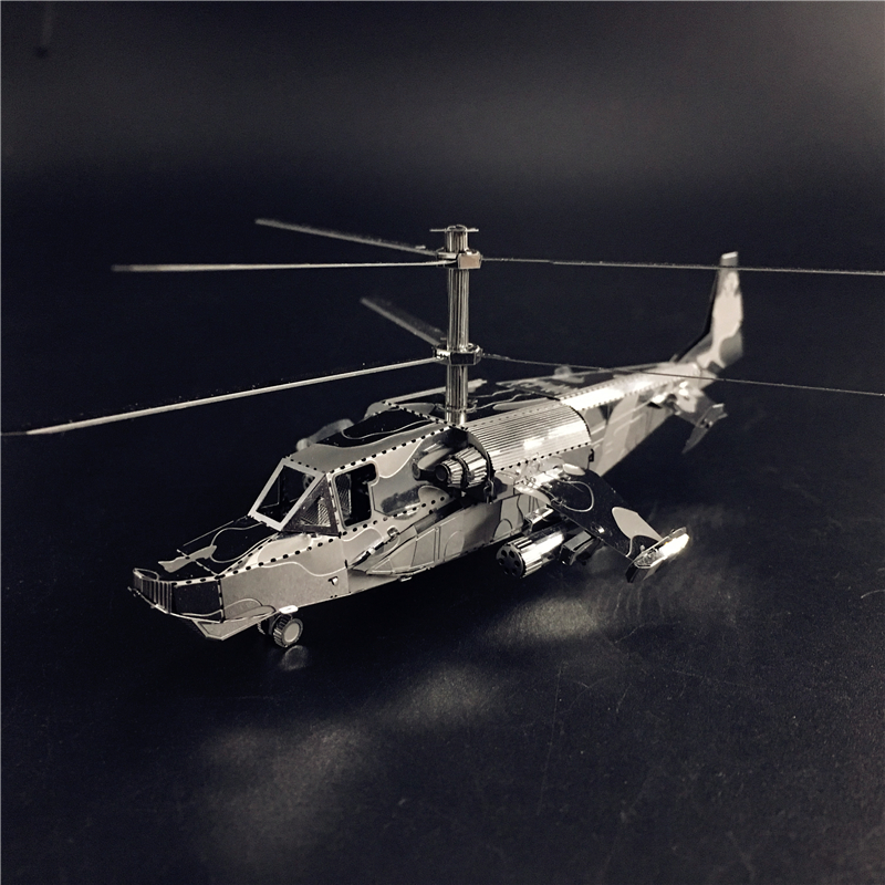 MMZ MODEL NANYUAN 3D Metal Model Kit KA-50 Aircraft RAH-66 Stealth Helicopter Assembly Model DIY 3D Laser Cut Model Puzzle Toys