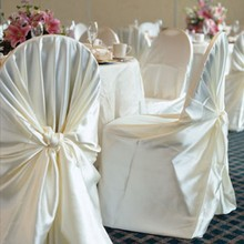1piece wholesale cheap universal satin self-tie chair cover(China)