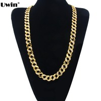 Fashion Iced Out Bling Bling Necklace High Quality Gold Silver Plated Hip Hop Chain Mens