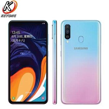 Перейти на Алиэкспресс и купить Мобильный телефон Samsung Galaxy A60 LTE, 6,3-дюймовый экран, 6 ГБ ОЗУ 64 ГБ/128 ГБ ПЗУ, Snapdragon 675 восемь ядер, камеры 32 Мп+8 Мп+5 Мп