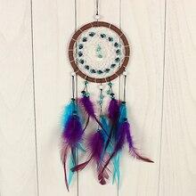 Камнем перьями натуральным dreamcatcher висят catcher украшения, орнамент dream проверки стене