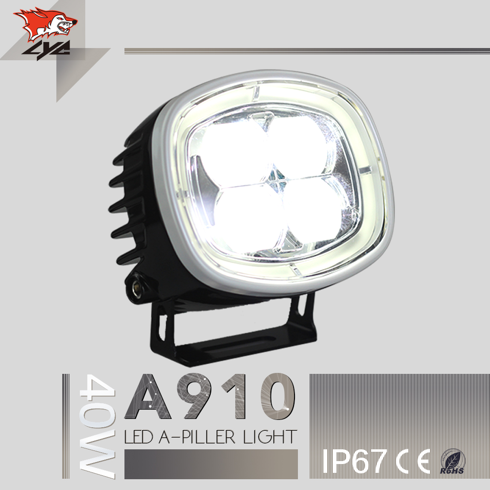 For jeep wrangler LED A-Pillar Synchronous Steering Light Imported  Led Chip Car Repair Led Lamp Auto Parts For Sylphy 40W left hand a pillar swith panel pod kit with 4 led switch for jeep wrangler 2007 2015