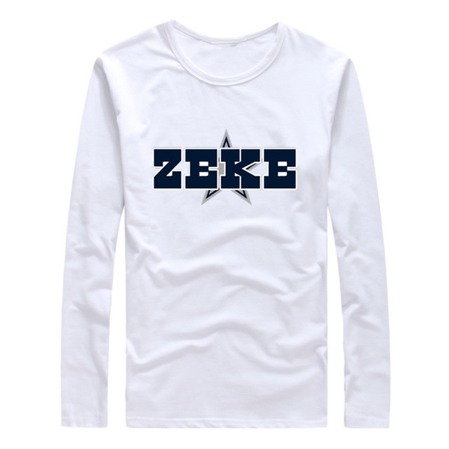 6be121e02a9 2017 Autumn Winter Ezekiel Elliott #21 Men T-Shirt Long Sleeve Tees T SHIRT  Men's S-XXXL Cowboys ZEKE Logo W1021015