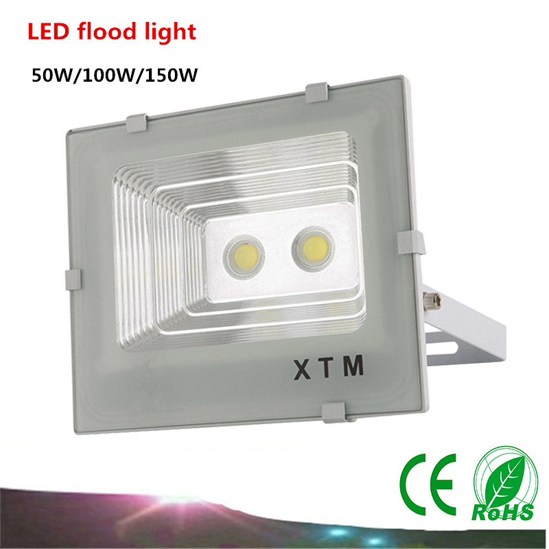 2017 2X DHL LED COB Flood Light AC85-265V 50W/100W/150W LED lamp IP65 LED Waterproof Advertising Lamp Garden Square Lighting