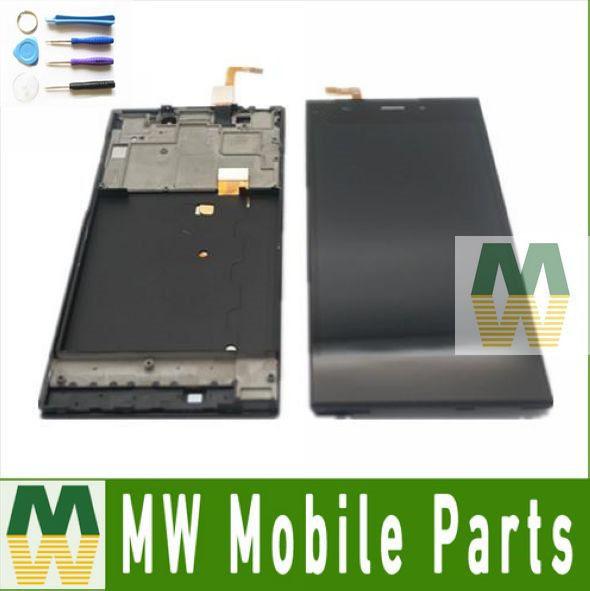 1 unids/lote negro color para xiaomi 3 mi3 tdcdma o wcdma pantalla lcd + pantalla táctil digitalizador + frame con herramientas