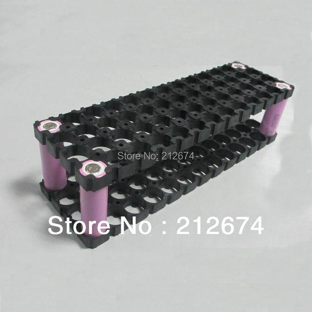 Freies Verschiffen 18650 batteriehalter 13*4 52 löcher für 48 v 10ah li ion akku Flameresistant material Sicherheit anti vibration