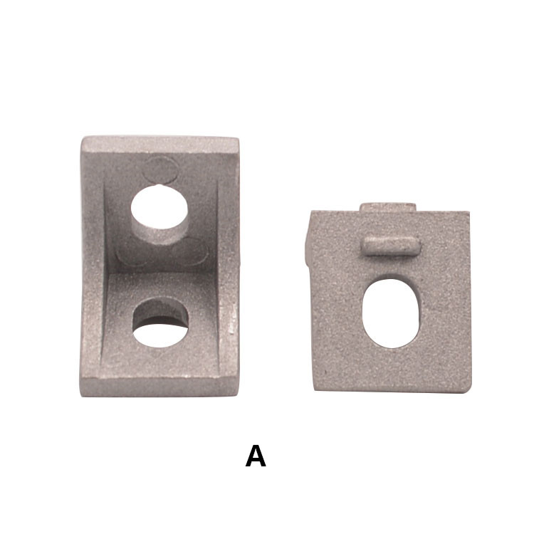 2020 corner fitting angle aluminum 17mmx20mm L type corner bracket fastener 2020 bracket for 2020 aluminum profile 10pcs цены