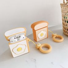 For AirPods 2 Case Cute 3D funny Cartoon silicon cover Air Pods Bluetooth Earphone pods headphone funda