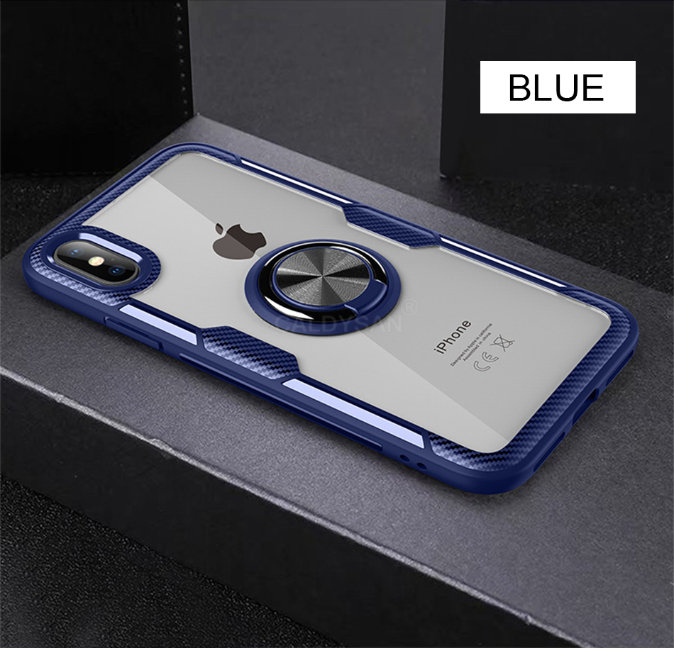Luxury Bumper Case And Car Holder Ring Case For IPhone XS Max XR X 11