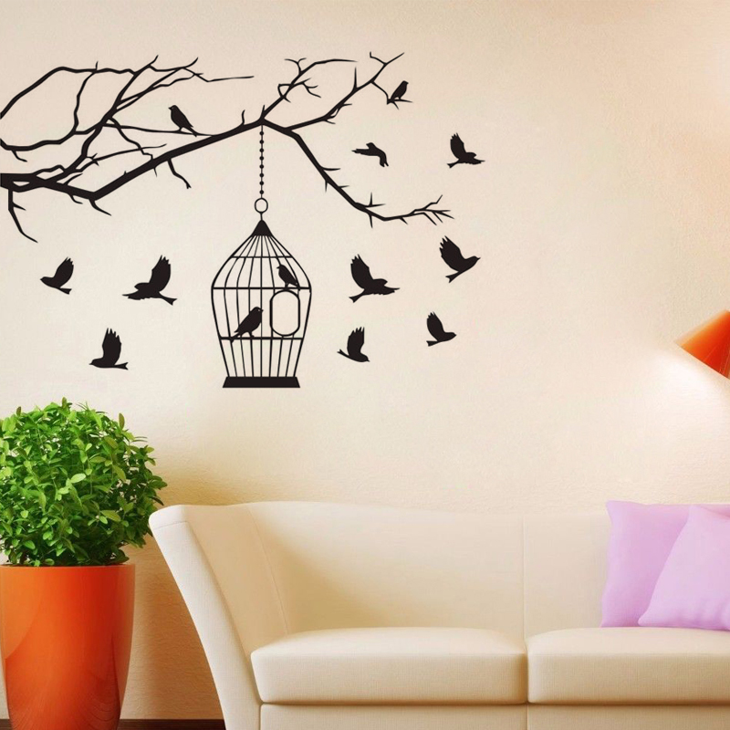 Popular Bird Wall DecalBuy Cheap Bird Wall Decal Lots From China - Wall decals birds