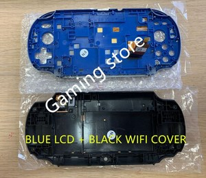 Image 3 - Oryginalny nowy dla ps vita dla ps vita psv 1000 ekran lcd montowane niebieski + tylna pokrywa czarny WIFI lub 3G wersja