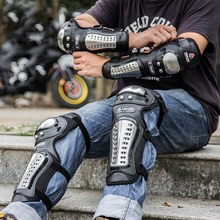 Breathable Adjustable Elbow Knee Sleeve Pad Outdoor Motorcycle Cycling Protective Arm Leg Guard Protector 1set недорого