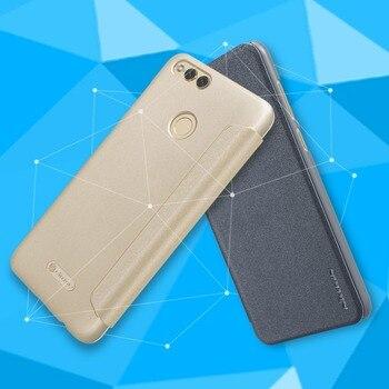 Dla Huawei Honor 7X etui z klapką NILLKIN Sparkle serii z tworzywa sztucznego PU skórzane etui na Huawei Honor 7X etui z klapką pokrywa darmowa wysyłka