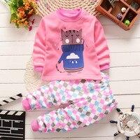 Kids Pajamas 2016 New Boys Autumun Spring Pyjamas Long Sleeve Sleepwear For Girls Warm Pajamas Christmas