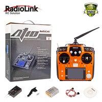 100% Аутентичные Радиолинк AT10 II 2,4 ГГц 12CH пульт дистанционного управления передатчик с R12DS приемник RC сделано Quadcopter