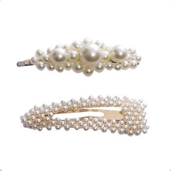 Elegant Pearls Hair Ornament Clips Hairpins Barrettes for Women Girls 5