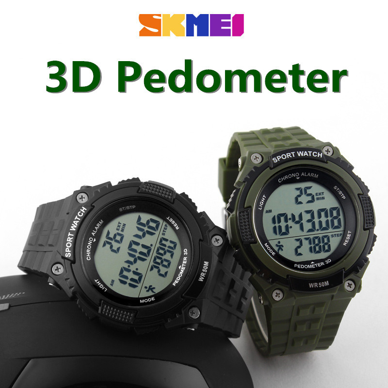 5205b8eb822 New SKMEI Waterproof Sports Watches Men Women Military Watch Stopwatch 3D  Pedometer Led Digital Wristwatch Relogio Masculinos-in Digital Watches from  ...