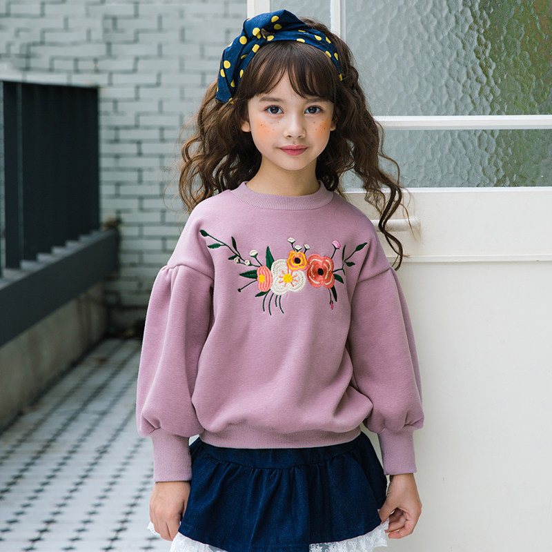 Baby Girls Top Pullovers Floral Design Lilac Lavender Flower Clothes Kids New Year Product for Children 56789 10 11 12 Years Old baby design baby design коляска 2 в 1 lupo comfort new 10 black черная