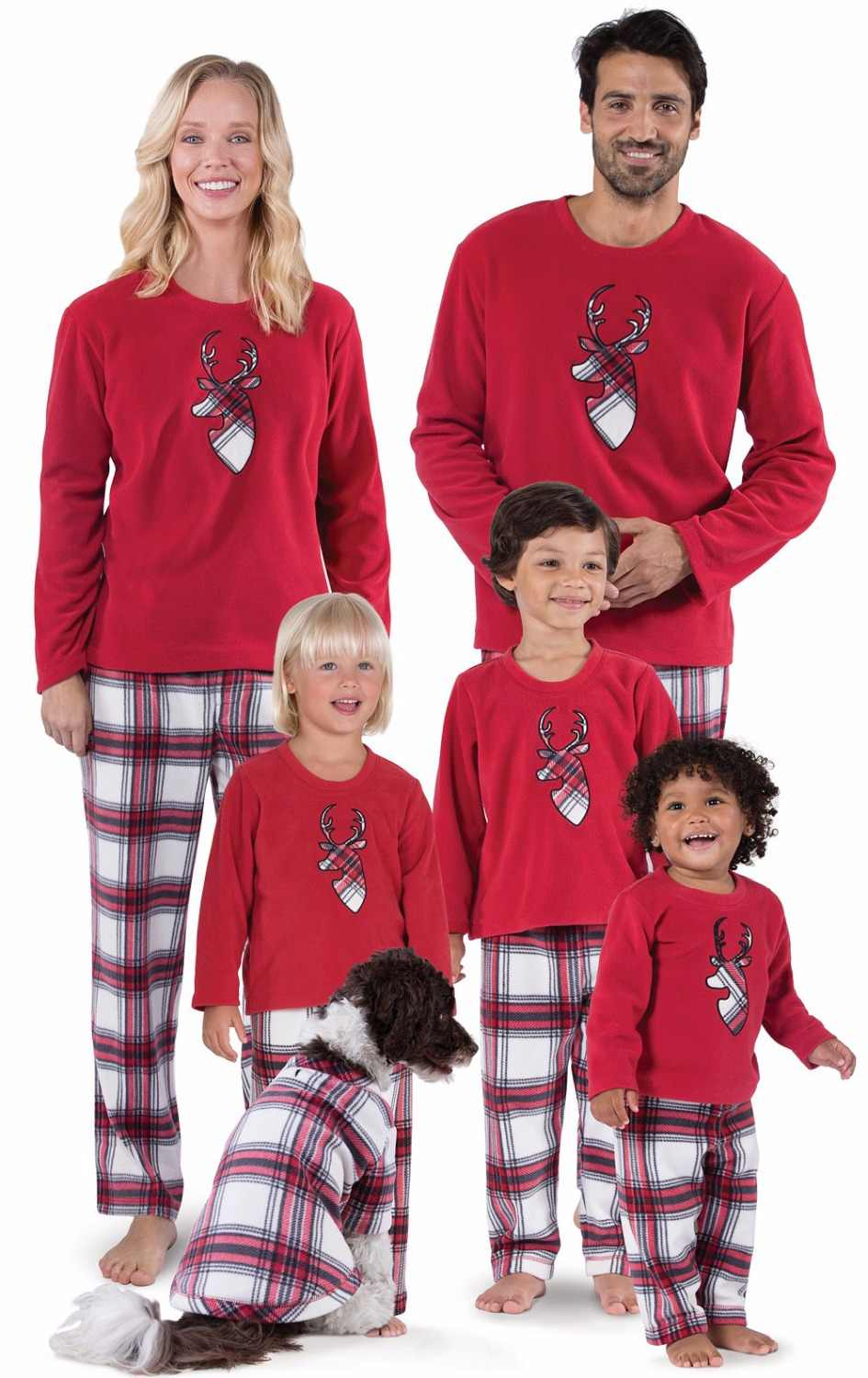 960780db7e Detail Feedback Questions about Casual Family Set Plaid Deer Christmas  Pajamas Family Matching Sleepwear Clothes Family Clothing Set Christmas  Family ...