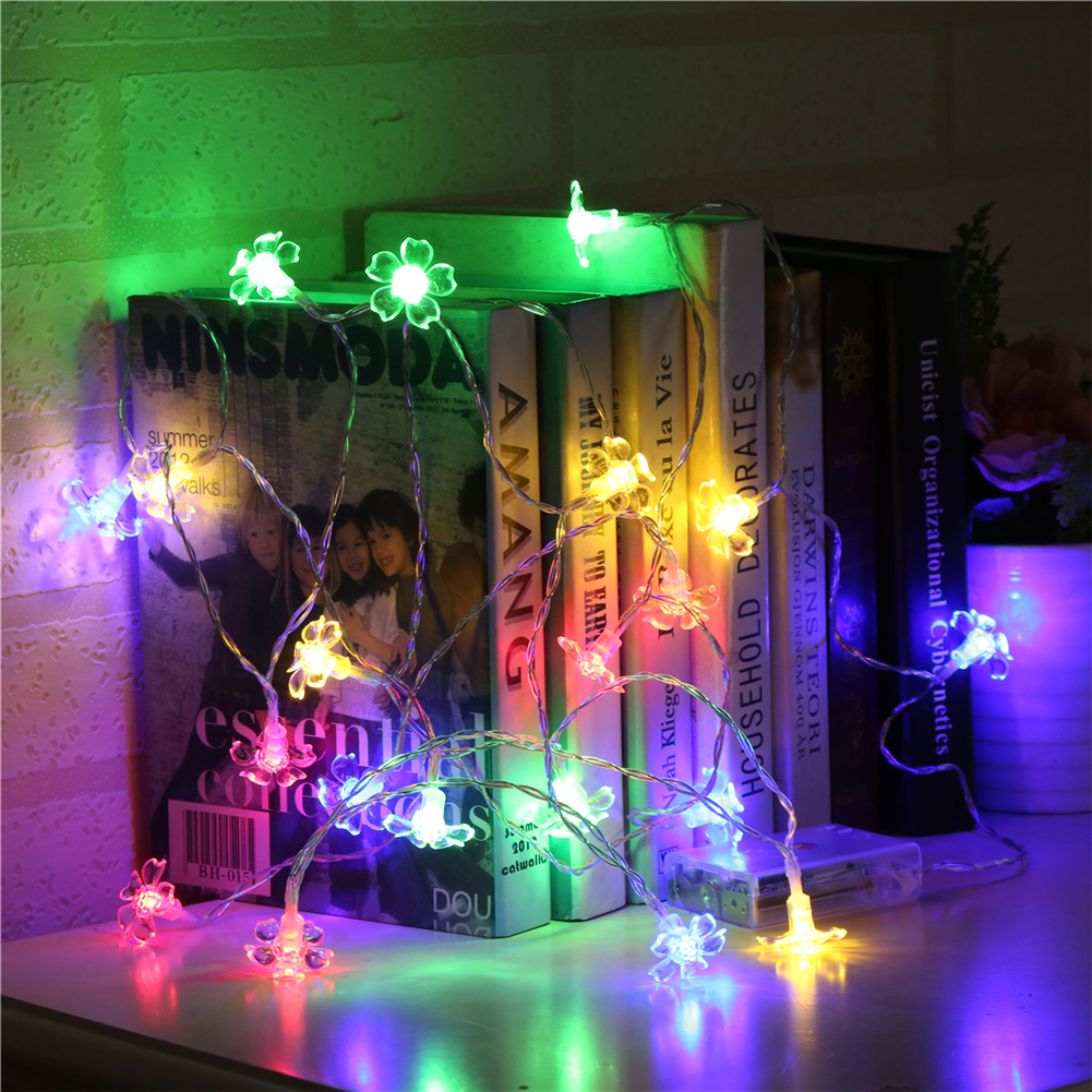 Fairy LightsNew Flower String Light 1.5M-10L/20L/40 3AA Room Weding Party Wall Window Home Decoration Children Night Lamp
