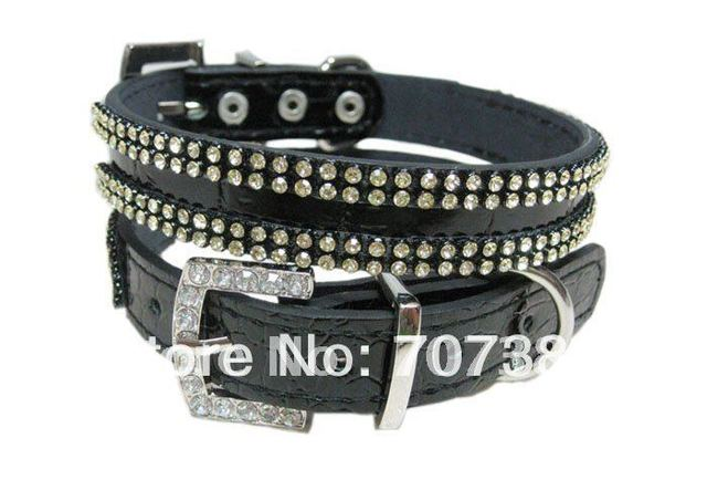 Free shipping Hot sale gold crystal dog collar  pet collar
