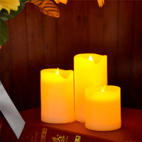 Indoor & Outdoor Intemperie Senza Fiamma Candela LED Candela A Pile della Candela Imballato In Una Scatola Regalo