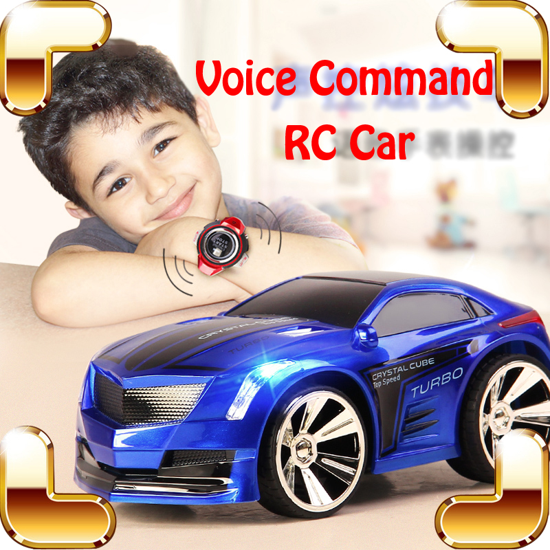 ФОТО New Idea Gift Voice Command RC Car Remote Control Toys Vehicle Sound Control Electric Voice Drift Racing Game Kids Present
