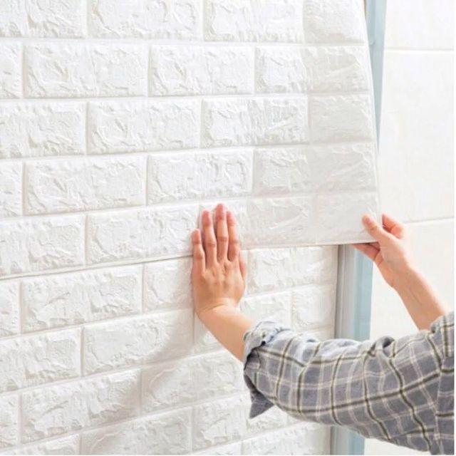 60*30cm 3d self adhesive foam brick wall stickers for kids room diy